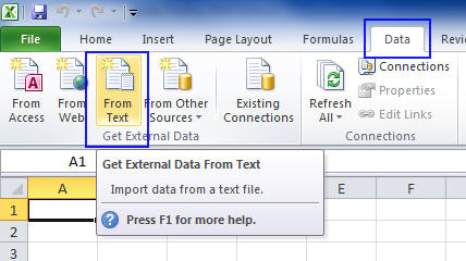 Excel 2012 - Import